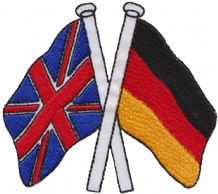 United Kingdom UK & Germany Friendship Embroidered Patch A187